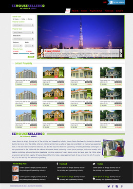 EZHOUSESELLERS.COM Property hosting site Complete Web Design Solution  Draft # 83 by aminzah