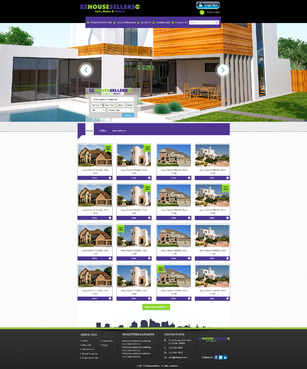 EZHOUSESELLERS.COM Property hosting site Complete Web Design Solution  Draft # 88 by aminzah