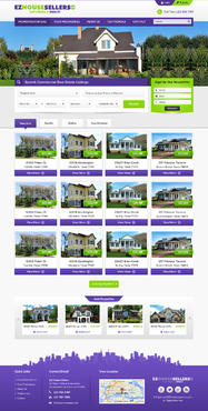 EZHOUSESELLERS.COM Property hosting site Complete Web Design Solution Winning Design by itmech