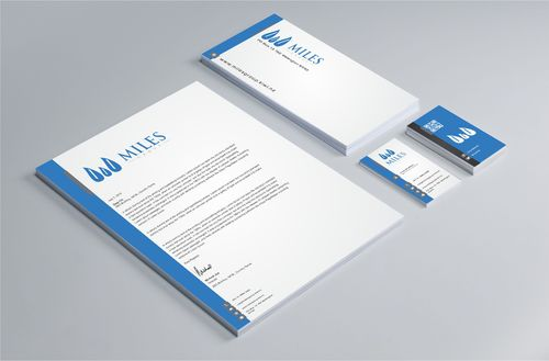Miles Group Business Cards and Stationery  Draft # 346 by Dawson