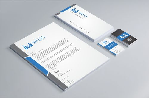 Miles Group Business Cards and Stationery Winning Design by Dawson