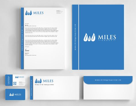 Miles Group Business Cards and Stationery  Draft # 348 by Dawson