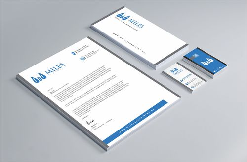 Miles Group Business Cards and Stationery  Draft # 349 by Dawson