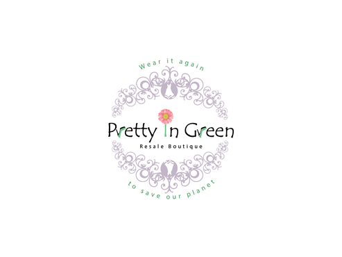 Pretty In Green Resale Boutique Marketing collateral  Draft # 73 by Rajeshpk