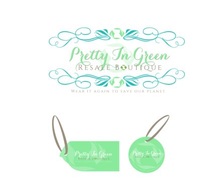 Pretty In Green Resale Boutique Marketing collateral  Draft # 77 by charmedeyes