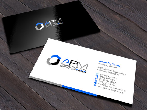 APM Construction Services, LLC (Design A) and Assured Property Management, LLC (Design B) Business Cards and Stationery  Draft # 4 by Xpert