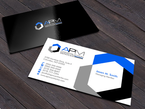 APM Construction Services, LLC (Design A) and Assured Property Management, LLC (Design B) Business Cards and Stationery  Draft # 6 by Xpert