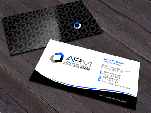 APM Construction Services, LLC (Design A) and Assured Property Management, LLC (Design B) Business Cards and Stationery  Draft # 10 by Xpert