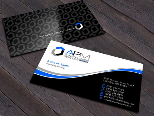 APM Construction Services, LLC (Design A) and Assured Property Management, LLC (Design B) Business Cards and Stationery  Draft # 14 by Xpert