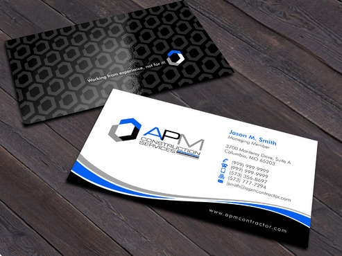APM Construction Services, LLC (Design A) and Assured Property Management, LLC (Design B) Business Cards and Stationery  Draft # 15 by Xpert
