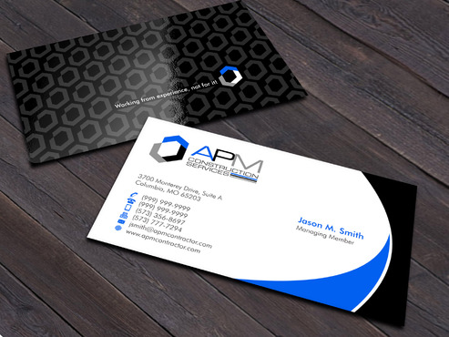 APM Construction Services, LLC (Design A) and Assured Property Management, LLC (Design B) Business Cards and Stationery  Draft # 17 by Xpert