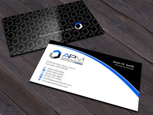 APM Construction Services, LLC (Design A) and Assured Property Management, LLC (Design B) Business Cards and Stationery  Draft # 18 by Xpert