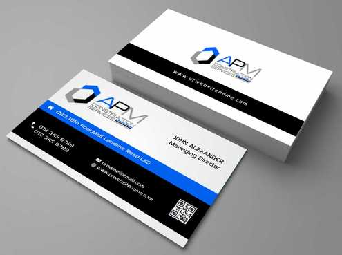 APM Construction Services, LLC (Design A) and Assured Property Management, LLC (Design B) Business Cards and Stationery  Draft # 176 by Dawson