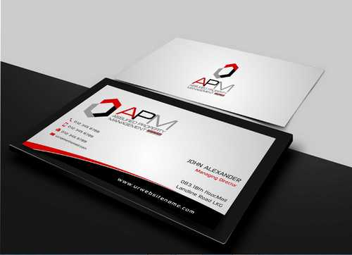 APM Construction Services, LLC (Design A) and Assured Property Management, LLC (Design B) Business Cards and Stationery  Draft # 204 by Dawson