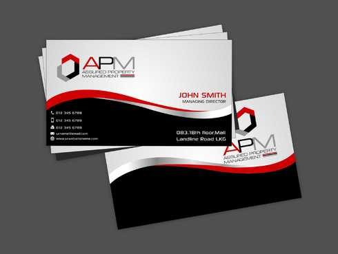 APM Construction Services, LLC (Design A) and Assured Property Management, LLC (Design B) Business Cards and Stationery  Draft # 224 by Dawson