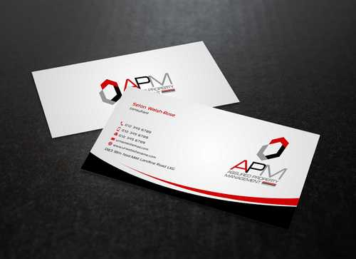 APM Construction Services, LLC (Design A) and Assured Property Management, LLC (Design B) Business Cards and Stationery  Draft # 225 by Dawson