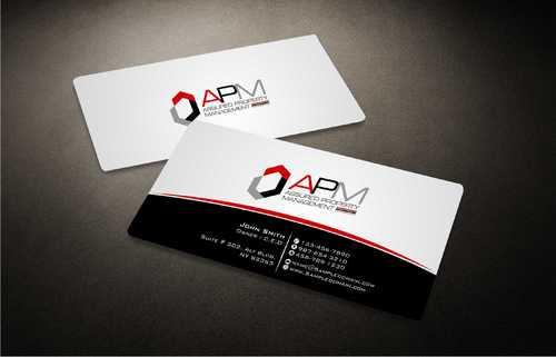 APM Construction Services, LLC (Design A) and Assured Property Management, LLC (Design B) Business Cards and Stationery  Draft # 226 by Dawson