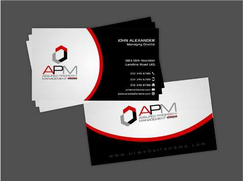 APM Construction Services, LLC (Design A) and Assured Property Management, LLC (Design B) Business Cards and Stationery  Draft # 229 by Dawson