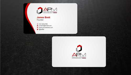 APM Construction Services, LLC (Design A) and Assured Property Management, LLC (Design B) Business Cards and Stationery  Draft # 230 by Dawson
