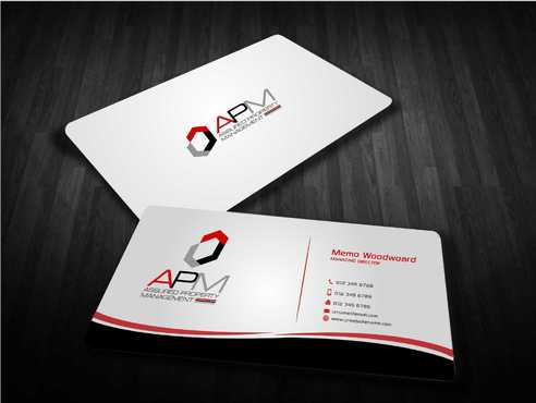 APM Construction Services, LLC (Design A) and Assured Property Management, LLC (Design B) Business Cards and Stationery  Draft # 231 by Dawson