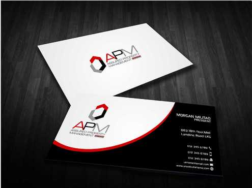 APM Construction Services, LLC (Design A) and Assured Property Management, LLC (Design B) Business Cards and Stationery  Draft # 232 by Dawson