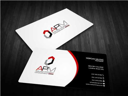 APM Construction Services, LLC (Design A) and Assured Property Management, LLC (Design B) Business Cards and Stationery  Draft # 233 by Dawson