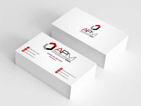 APM Construction Services, LLC (Design A) and Assured Property Management, LLC (Design B) Business Cards and Stationery  Draft # 241 by Dawson
