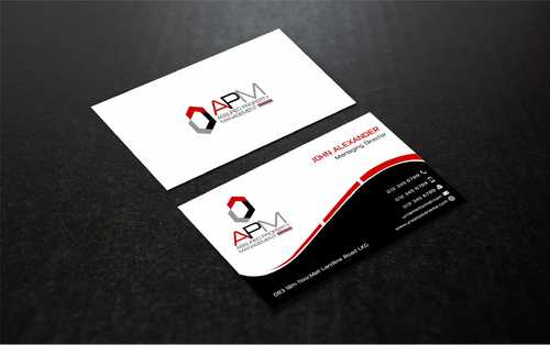 APM Construction Services, LLC (Design A) and Assured Property Management, LLC (Design B) Business Cards and Stationery  Draft # 243 by Dawson