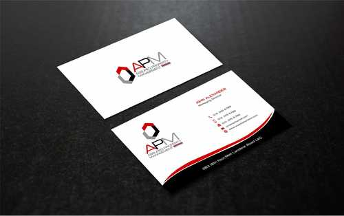 APM Construction Services, LLC (Design A) and Assured Property Management, LLC (Design B) Business Cards and Stationery  Draft # 244 by Dawson