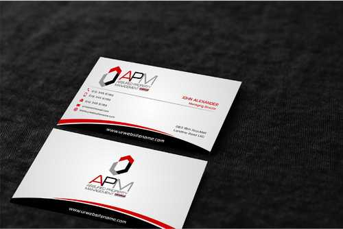 APM Construction Services, LLC (Design A) and Assured Property Management, LLC (Design B) Business Cards and Stationery  Draft # 246 by Dawson