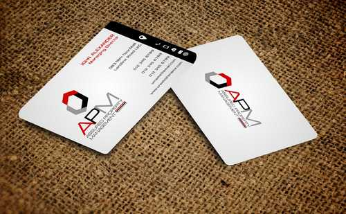 APM Construction Services, LLC (Design A) and Assured Property Management, LLC (Design B) Business Cards and Stationery  Draft # 247 by Dawson