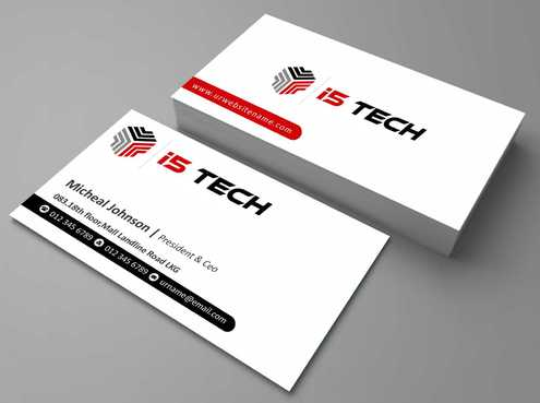i5 TECH Business Cards and Stationery Business Cards and Stationery  Draft # 116 by Dawson