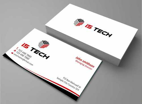 i5 TECH Business Cards and Stationery Business Cards and Stationery  Draft # 123 by Dawson
