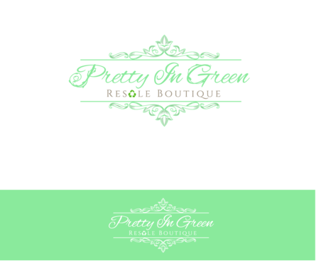 Pretty In Green Resale Boutique Marketing collateral  Draft # 82 by charmedeyes