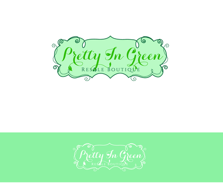 Pretty In Green Resale Boutique Marketing collateral  Draft # 83 by charmedeyes