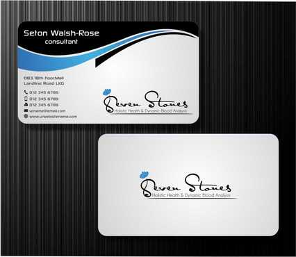 Seven Stones Holistic Health & Dynamic Blood Analysis Business Cards and Stationery  Draft # 116 by Dawson