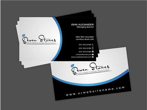 Seven Stones Holistic Health & Dynamic Blood Analysis Business Cards and Stationery  Draft # 122 by Dawson
