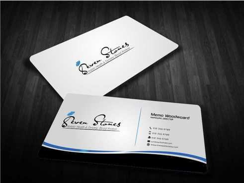 Seven Stones Holistic Health & Dynamic Blood Analysis Business Cards and Stationery  Draft # 124 by Dawson