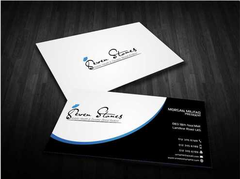 Seven Stones Holistic Health & Dynamic Blood Analysis Business Cards and Stationery  Draft # 126 by Dawson