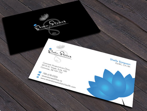 Seven Stones Holistic Health & Dynamic Blood Analysis Business Cards and Stationery  Draft # 157 by Xpert