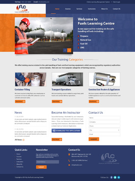 Fuels Learning Centre Complete Web Design Solution Winning Design by jogdesigner
