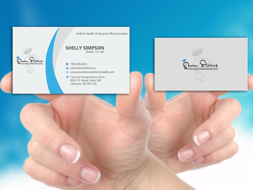Seven Stones Holistic Health & Dynamic Blood Analysis Business Cards and Stationery  Draft # 169 by hasan110