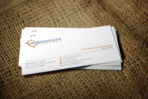 Morningside Capital Business Cards Business Cards and Stationery Winning Design by Graph