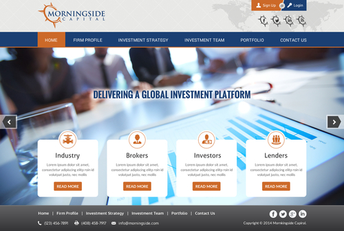 Morningside Capital - Website Complete Web Design Solution  Draft # 34 by jogdesigner