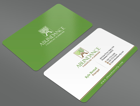 Abundance Financial Planning Business Cards and Stationery  Draft # 6 by ArtworksKingdom