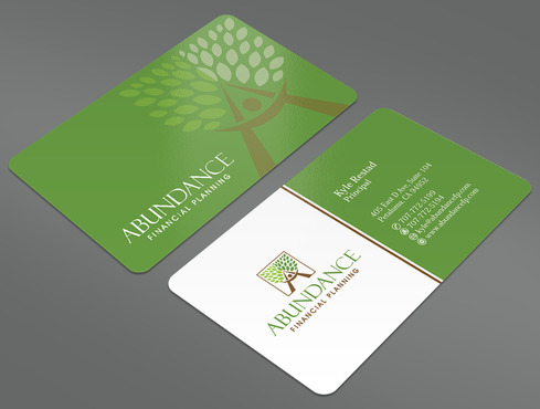Abundance Financial Planning Business Cards and Stationery  Draft # 13 by ArtworksKingdom