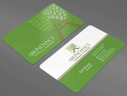 Abundance Financial Planning Business Cards and Stationery  Draft # 15 by ArtworksKingdom