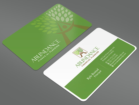 Abundance Financial Planning Business Cards and Stationery  Draft # 16 by ArtworksKingdom