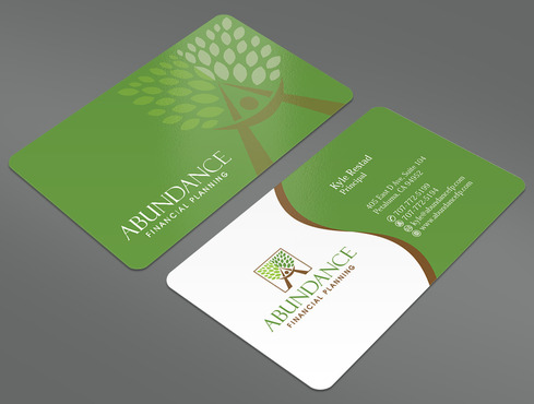 Abundance Financial Planning Business Cards and Stationery  Draft # 17 by ArtworksKingdom
