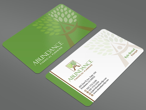 Abundance Financial Planning Business Cards and Stationery  Draft # 20 by ArtworksKingdom